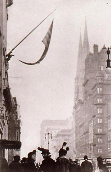 "Paul Strand's ""Fifth Avenue, New York."""